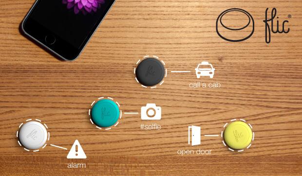Flic bouton connecté en campagne de crowdfunding Indiegogo