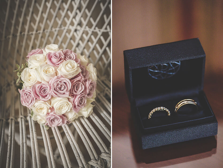 alliance bouquet mariage