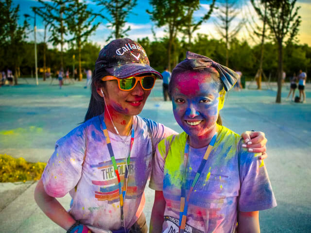 E1 Camera shot color run