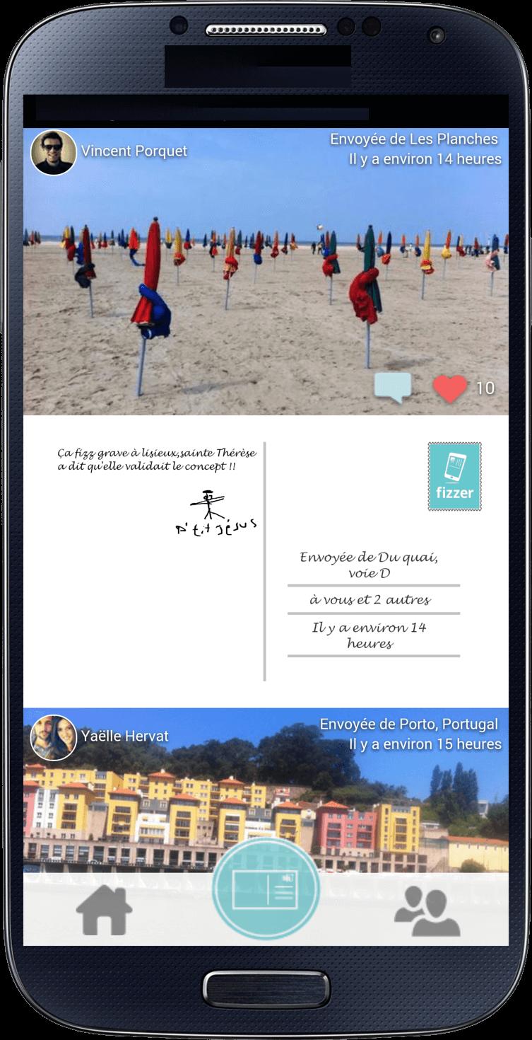 Fizzer les cartes postales personnalisables