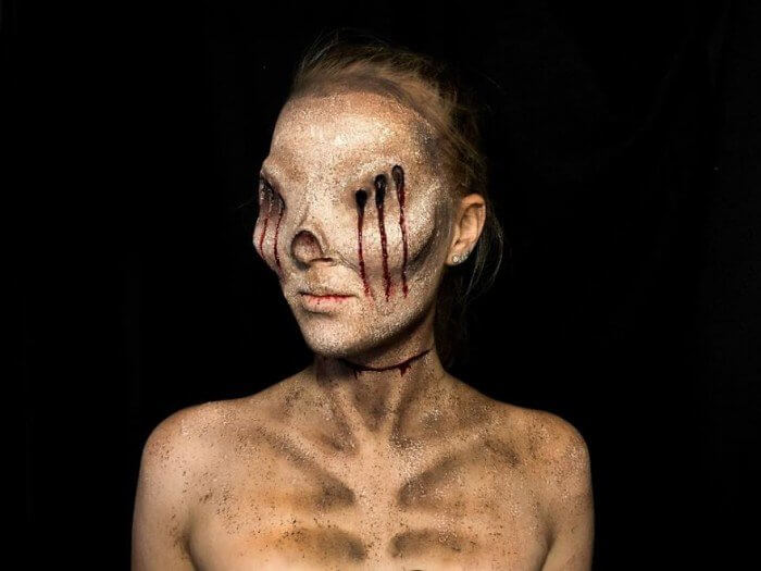 Laura Wirth, Armageddon Painted, Special Effects Makeup, Makeup, paint, young, talented, Australian, youtube, instagram