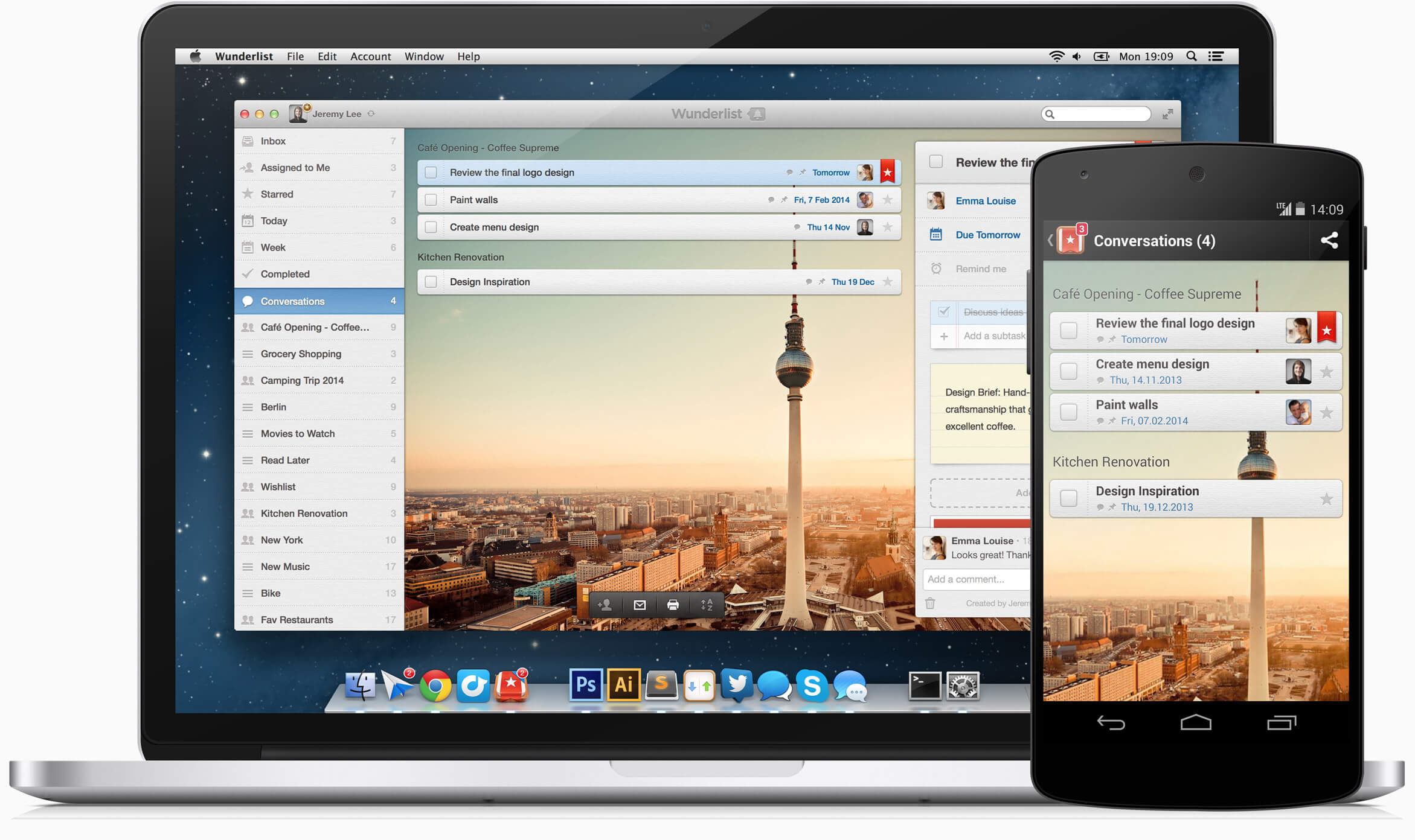 wunderlist, organiser, s'organiser, résolutions, start-up, entrepreneuriat
