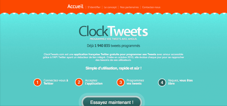 Clocktweets website : programmer des tweets