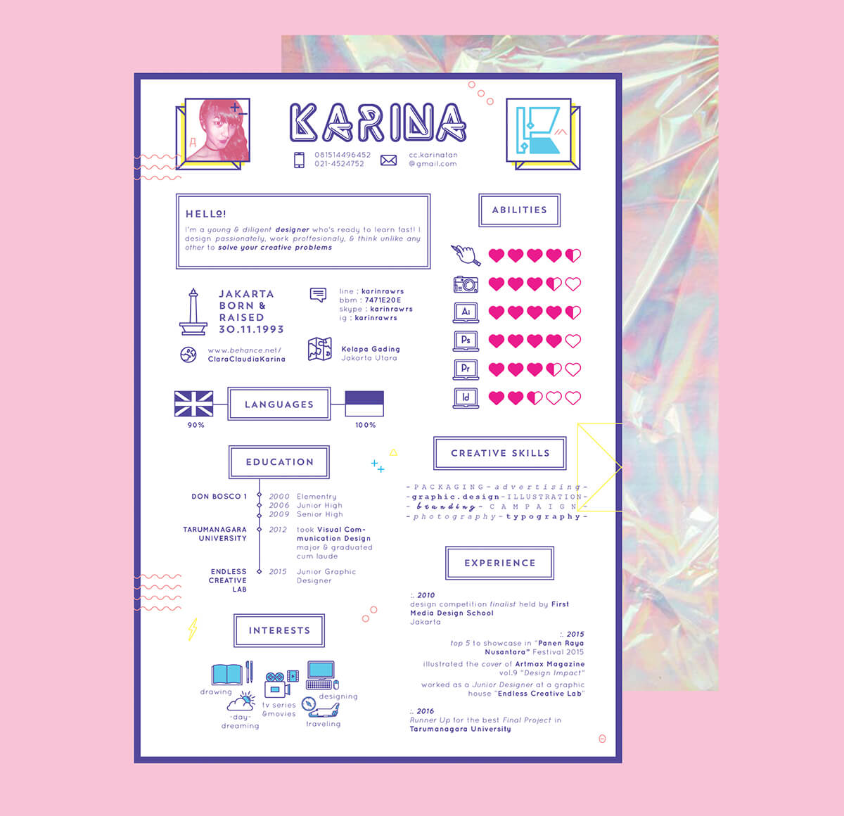 creative cv, cv, cv templates, free cv template, infographic cv, girly cv, pink cv, resume, graphic designer