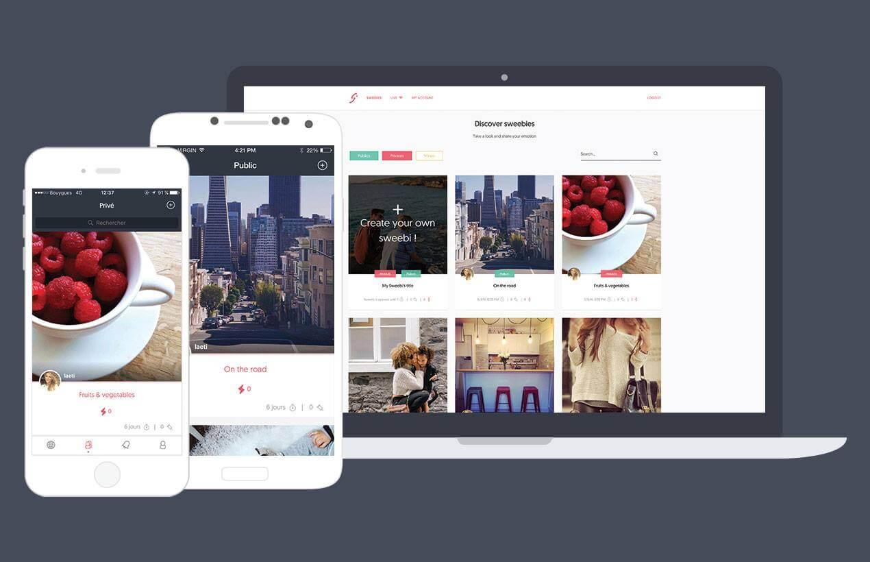 Sweebi, application, photo, idopic, start-up, entrepreneuriat