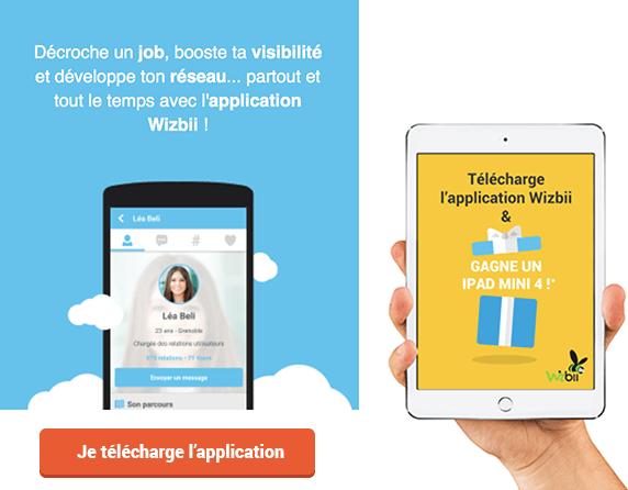 gagne un ipad mini tablette tactile application mobile wizbii