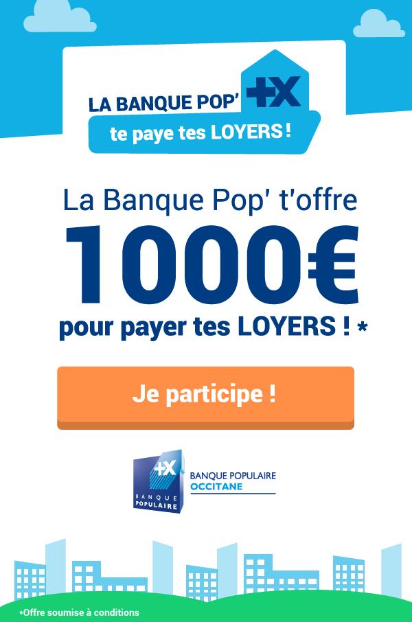 Loyers, concours, étudiant, jeune diplômé, Banque Populaire Occitane, Wizbii