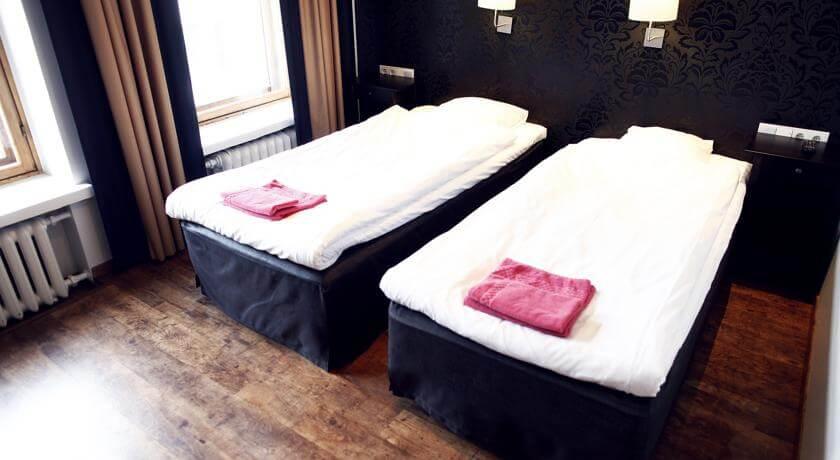 Hotel Finn, lit, draps, comfortable, finlande
