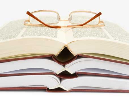 esfuerzo, estudio, notas, libros, libro, gafas, estudiar