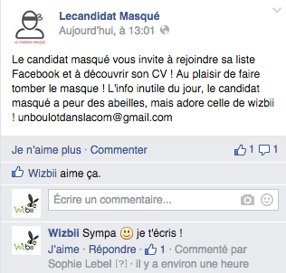 candidature masquee