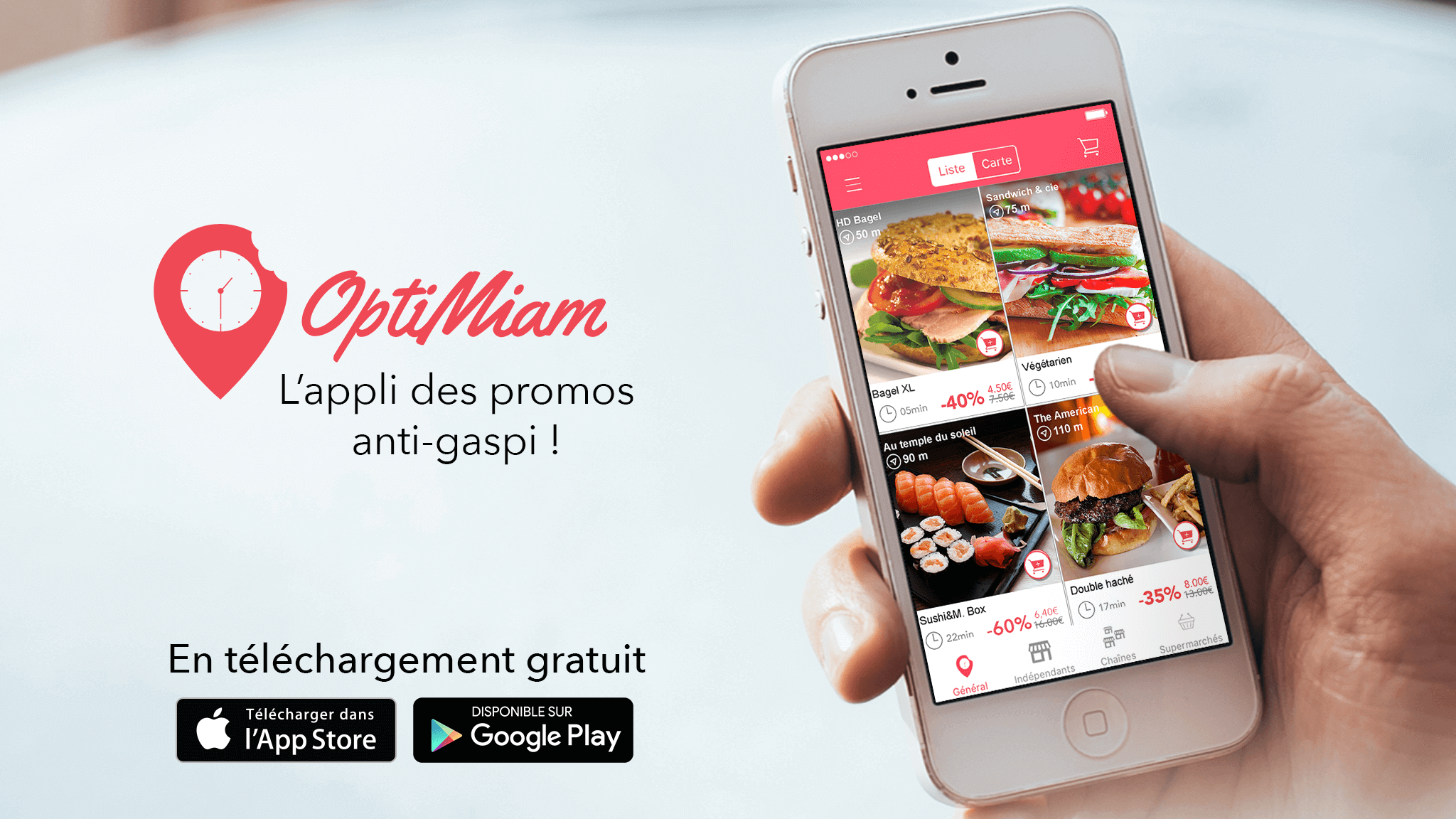 optimiam, application mobile, appli, gaspillage, anti-gaspi, promos, résolutions, start-up, entrepreneuriat