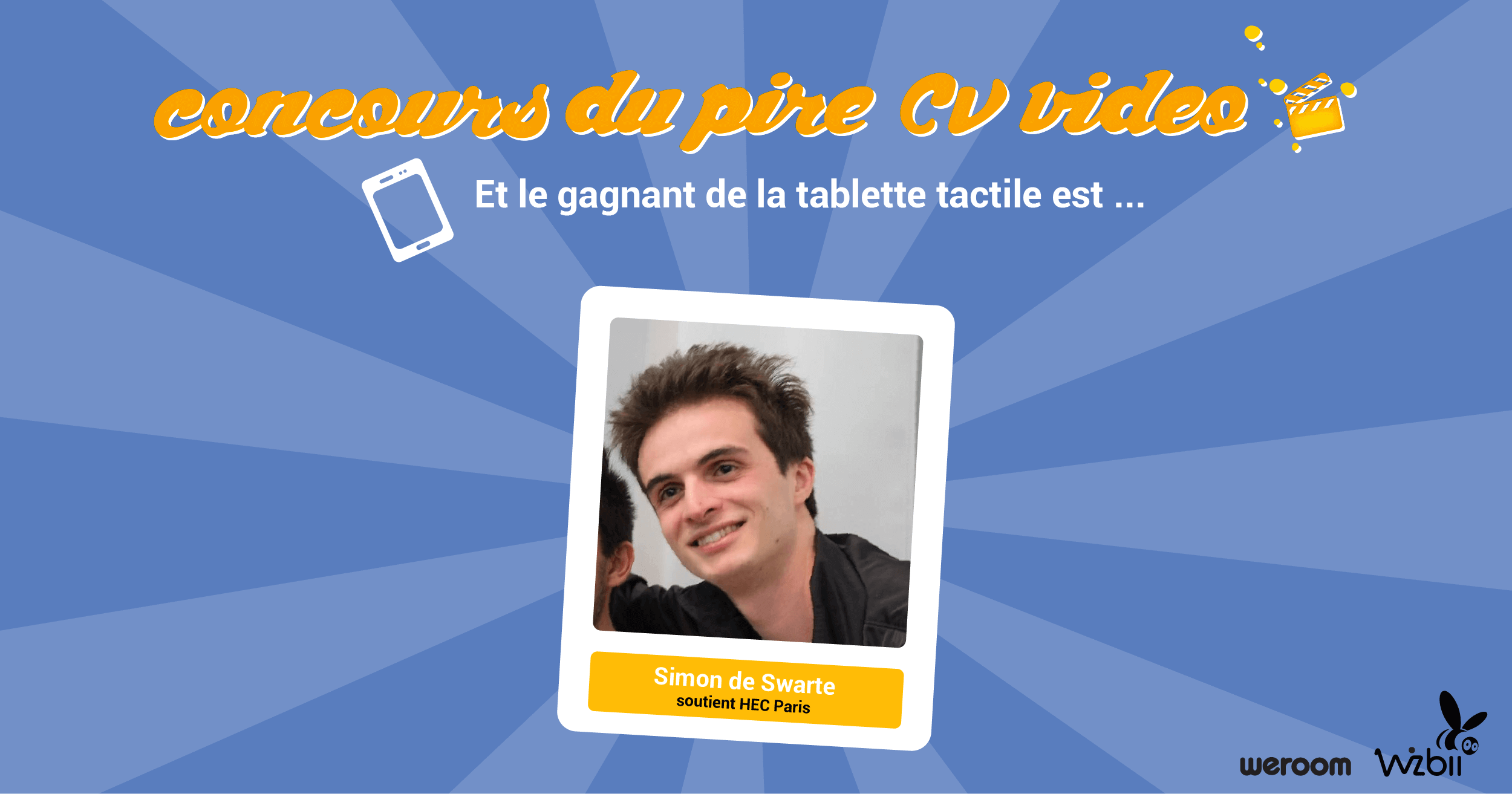 pire cv video concours tablette tactile gagnant wizbii hec