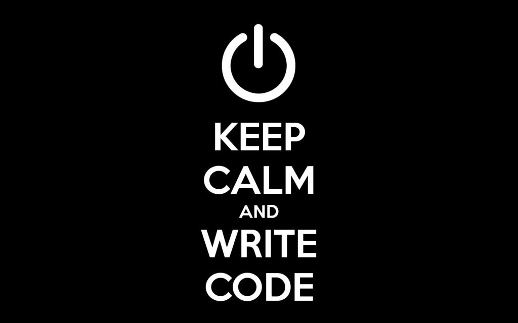 keep calm and code