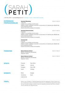 modele-cv-word-mycvfactory-cv étudiant