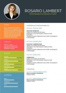 cv-assistante-mycvfactory-cv étudiant jeune diplômé