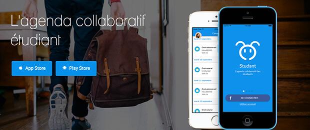 studant, application, étudiants, startup, bonjour idées