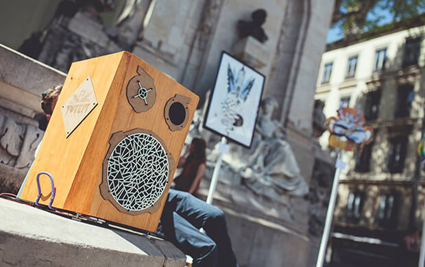 Totem Boombox, enceintes nommades, musique, start-up, festival, entrepreneuriat