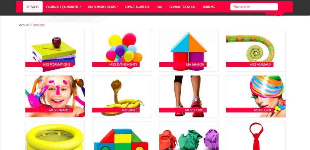 catégories site web gpaltemps