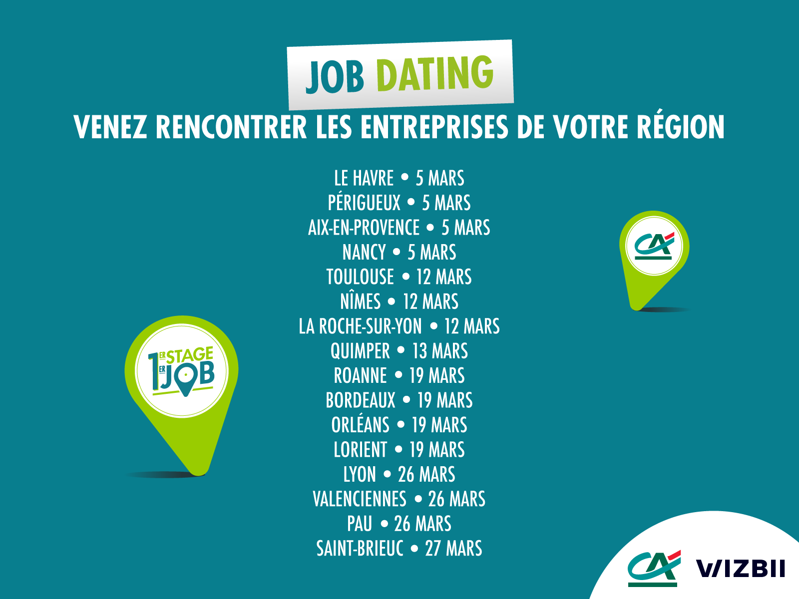 Job dating credit agricole nord