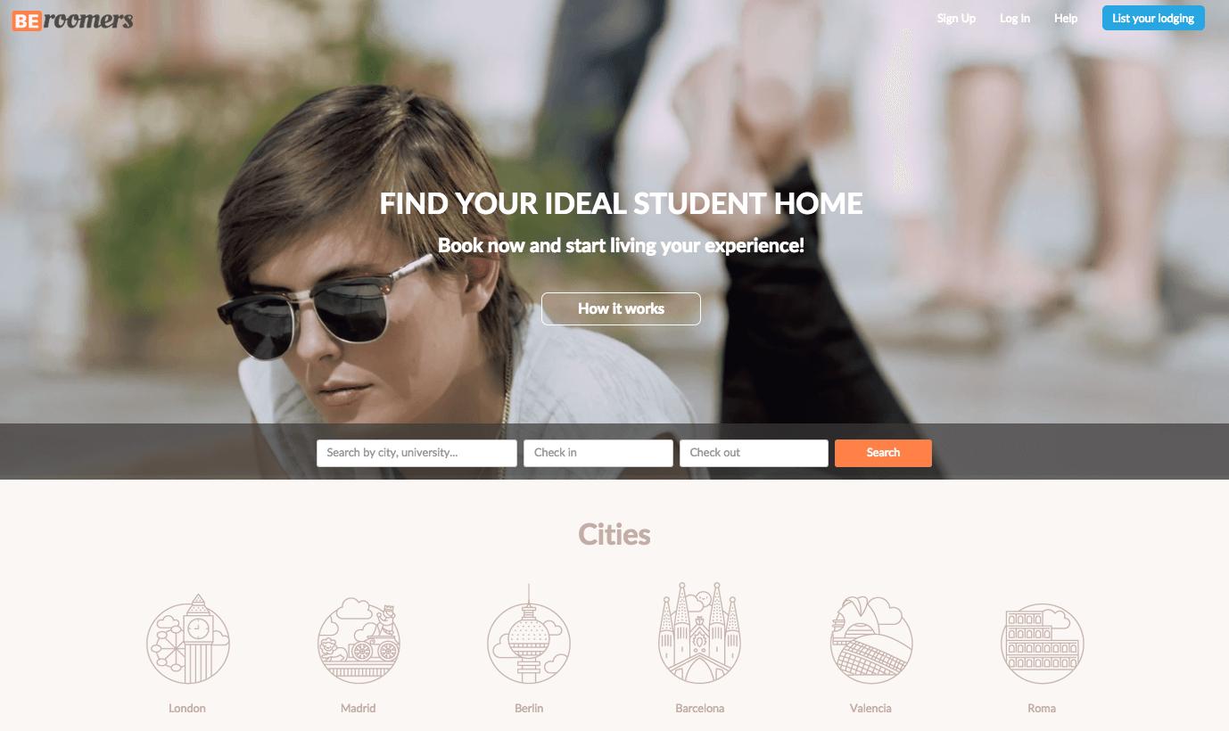 Beroomers, start-up, site, logements, étudiants