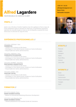 CV moderne, CV communication