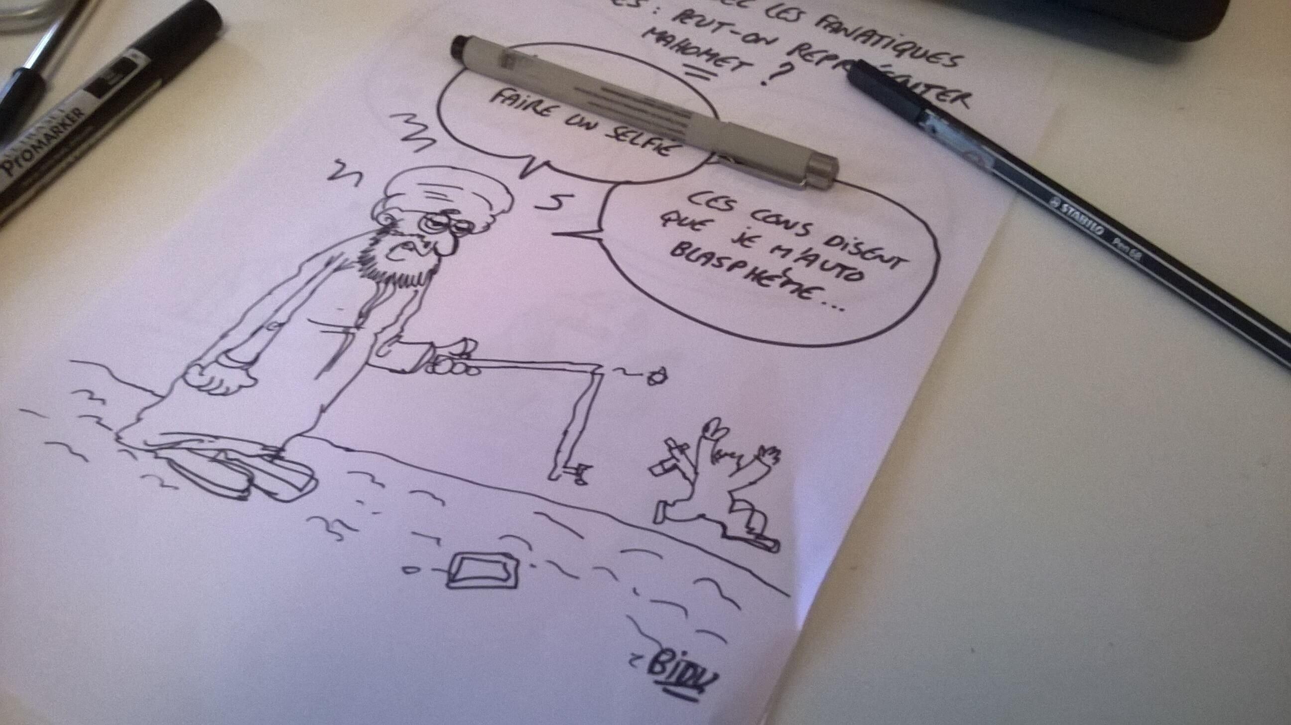 BIDU, dessinateur satyrique, jeune talent